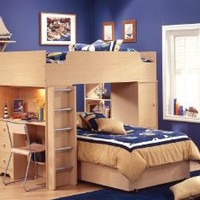 Amazon.com: South Shore Furniture, Popular Collection, Complete Loft Bed, Natural Maple: Home & Kitchen