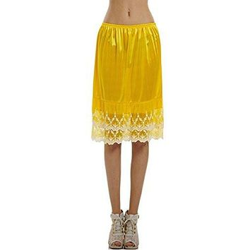 Women's double chandelier lace skirt extender / half slip