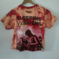 Sleeping With Sirens T Shirt / Crop Top / Cropped / Half Tee / Band Shirt / Distressed / Graphic / Indie / Grunge / Rock N Roll / Rocker Tee