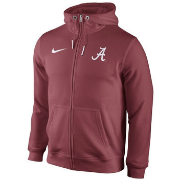 Alabama Crimson Tide Nike Icon Club Full Zip Hoodie – Crimson