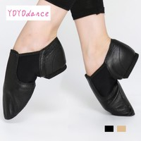 2017 New jazz slip on dance sneakers dancing shoes for ladies Black tan Dance Shoes Jazz Dance Shoes For Adults & Children 4716