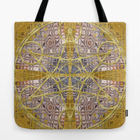 Golden Geometry Star Tote Bag by Webgrrl | Society6