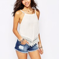 Pull&Bear Crochet Trim Cami Top