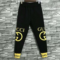 GUCCI 2018 autumn and winter new casual men's wild nine pants