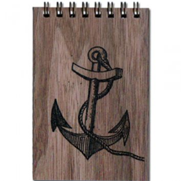 Wood Notepad Anchor Small
