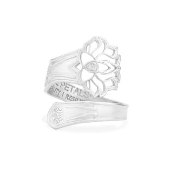 LOTUS PEACE PETALS Spoon Ring