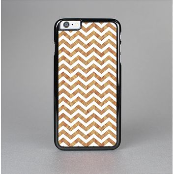 The Wood & White Chevron Pattern Skin-Sert Case for the Apple iPhone 6 Plus