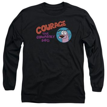 Courage The Cowardly Dog - Courage Logo Long Sleeve Adult 18/1 Officially Licensed Shirt