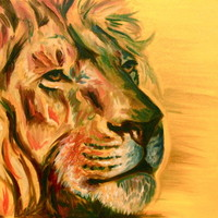 Lion Art Print by Elizabeth J. Nixon