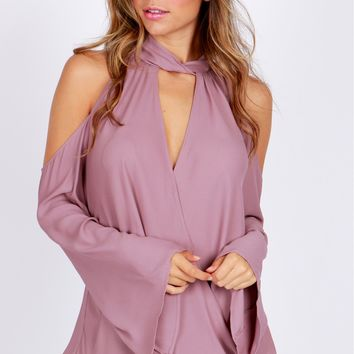 Keyhole Wrap Top Grape Shake