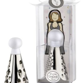 "Kate Aspen ""World's Gratest Mom"" Cheese Grater in Gift Box with Organza Bow"