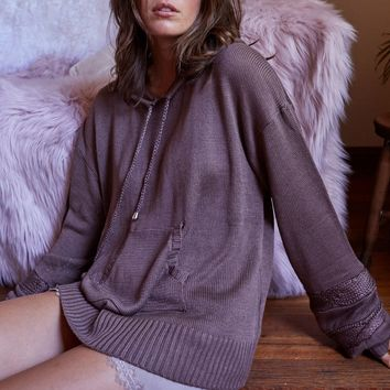 somedays lovin - moonlight drive hooded sweater - mushroom