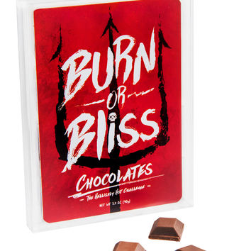 Burn or Bliss Chocolate: Hellishly hot chocolate roulette challenge.