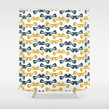 Zany Du Bow Tie Pattern Shower Curtain by Zany Du Designs