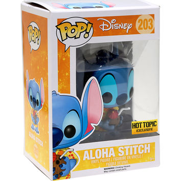 Funko Disney Lilo & Stitch Pop! Aloha Stitch Vinyl Figure Hot Topic Exclusive