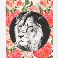 Urban Outfitters - Floral Lion Poster