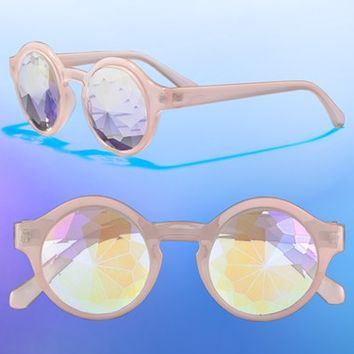 Women's Future Eyes 'Kaleidoscope' 48mm Rainbow Prism Lens Glasses - Pink
