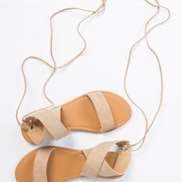 Lace-Up Strapped Sandals