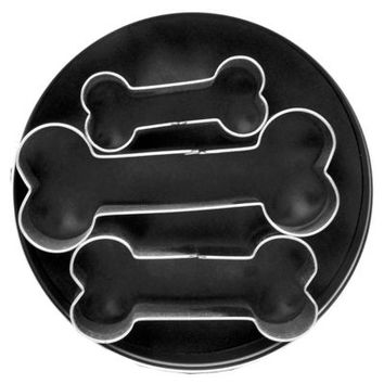 3-Piece Dog Bone Cookie Cutter Set