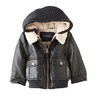 London Fog® Baby Boys' Faux Leather Jacket at www.bostonstore.com