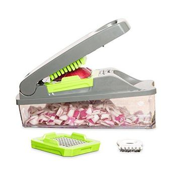Onion Chopper Pro Vegetable  Strongest - NO MORE TEARS 30% Heavier Duty Multi Vegetable-Fruit-Cheese-Onion Chopper-Dicer-Kitchen Cutter
