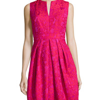 Lace Fit-and-Flare Cocktail Dress, Orchid