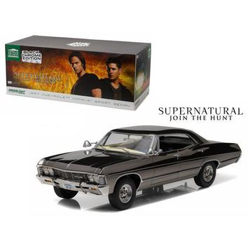 1967 Chevrolet Impala Sport Sedan Black Chrome Edition Supernatural (TV Series 2005) 1/18 Diecast Model Car  by Greenlight