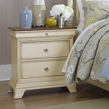 Homelegance Inglewood II 2 Drawer Nightstand in Antique White