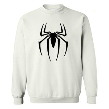 Spider-man Logo Print sweatshirt Men Black Superherofleece hoodies sweatshirts Spiderman Teenage Boy The Avengers Clothing