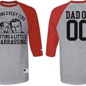 Personalize a Funny Sports Dad Baseball Jersey