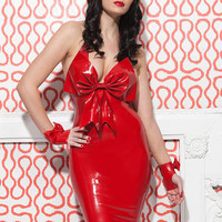 Latex Cherry Cocktail Dress