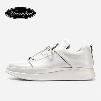 Natural Leather Men Sneakers Hecrafted 38~46 Fashion Genuine Leather Casual Men Shoes #CX0786XD