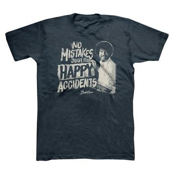 Bob Ross No Mistakes, Just Happy Accidents Men's T-shirt