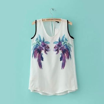 Bralette Hot Beach Sexy Stylish Comfortable Summer Strong Character Print Sleeveless Tops Vest [6047764737]