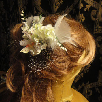 Victorian Meets Tropical Elegance  White Spotted Orchid by ayasuki