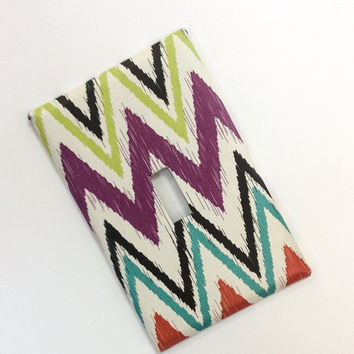 Chevron Light Switch Cover,Chevron Switchplate