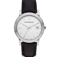 Burberry: Classic Leather Watch