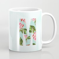Floral Letter M - Letter Collection Mug by Allyson Johnson | Society6