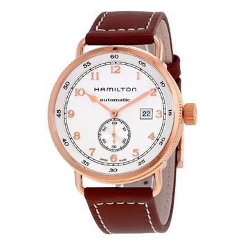 Hamilton Khaki Rose Gold-tone Stainless Steel Mens Watch H77745553