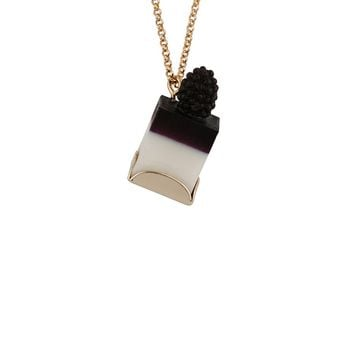 N2 by Les Néréides GOURMET COFFEE BLACKBERRY BLANCMANGE LONG NECKLACE