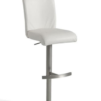 Modrest T-1206 Modern White Eco-Leather Bar Stool