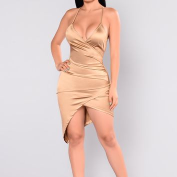 Starlight Beauty Dress - Gold
