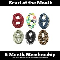 Scarf of the Month - 6 Month Gift Subscription Package