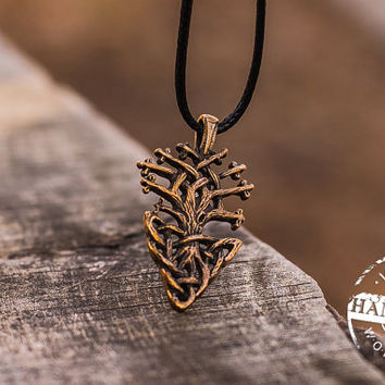 Yggdrasil World Tree Neclace Viking Amulet Bronze Jewelry Scandinavian Pendant