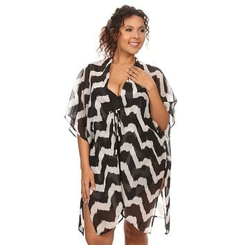Women's Plus Size  Front Tie Beach Dress Cover Up - Made in USA - Free Shipping