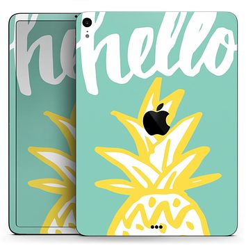 "Well Hello Pineapple - Full Body Skin Decal for the Apple iPad Pro 12.9"", 11"", 10.5"", 9.7"", Air or Mini (All Models Available)"