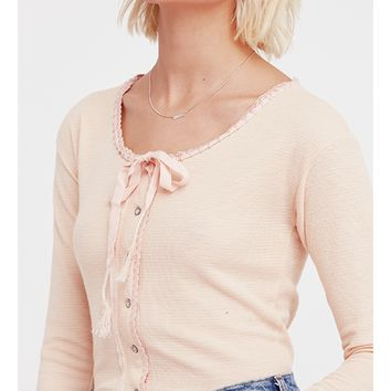Cecilia Long Sleeve Top - Pink by Free People