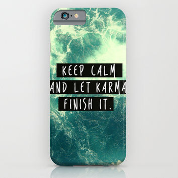 karma iPhone & iPod Case by Much Wow