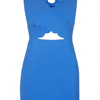 Scallop Cut-Out Bodycon Dress - Topshop
