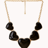 Crazy Heart Bib Necklace